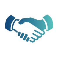 Clients shaking hand icon