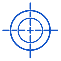 Target - Factory Calibration icon in blue