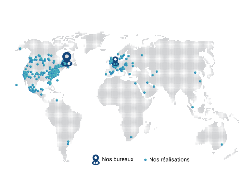 Map Infodev EDI around the world