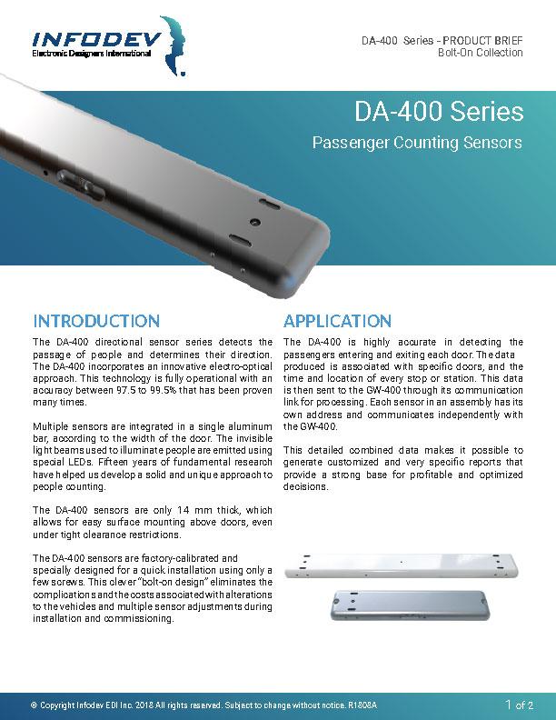 Infodev EDI Product Brief DA-400 Bolt-On