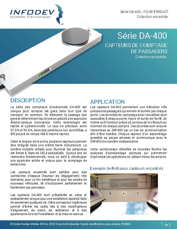 Infodev EDI Product Brief DA-400-Recess