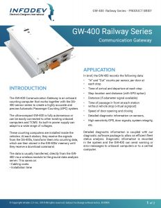 Infodev EDI Product Brief GW-400 Railway